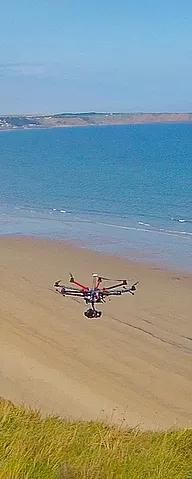 aerial-filming-with-drone-over-beach